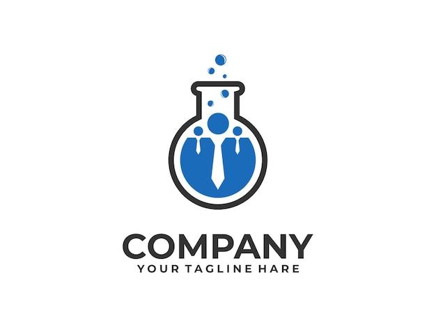 Logotipo de trabajo en equipo de laboratorio