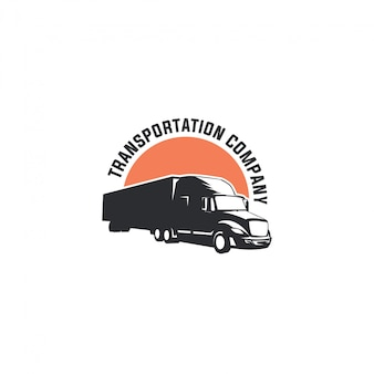 Logotipo de transporte de camiones