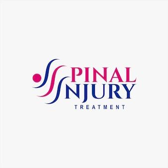 Logotipo de tratamiento de lesiones espinales simple