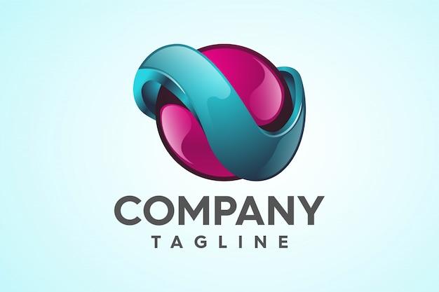 Logotipo de trendy professional 3d