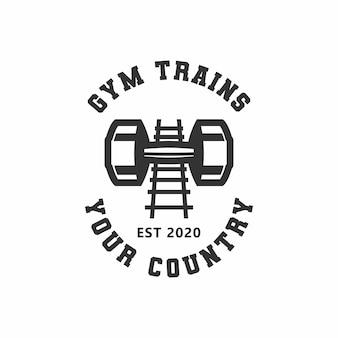 Logotipo de trenes de gimnasio
