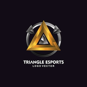 Logotipo de triángulo esport