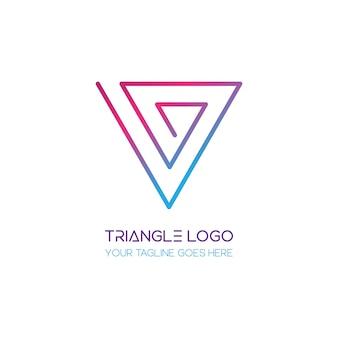 Logotipo de triángulo