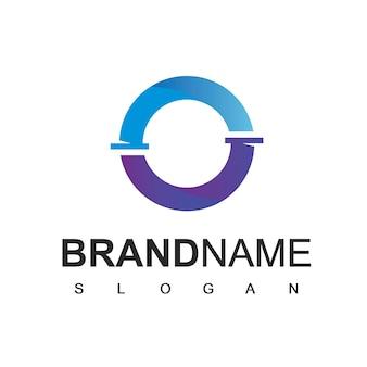 Logotipo de tubería, plomería, símbolo de la empresa de gas y petróleo