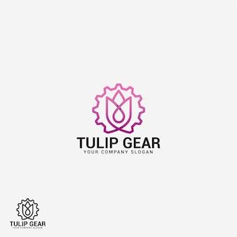 Logotipo de tulipán
