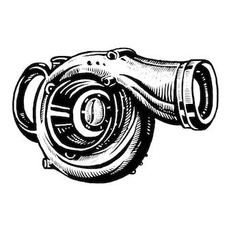 Logotipo de turbo coffe