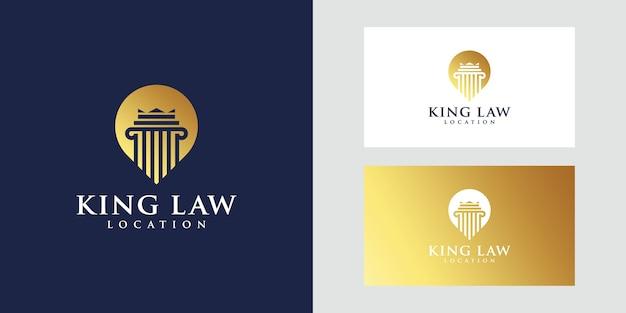 Logotipo de ubicación de law king