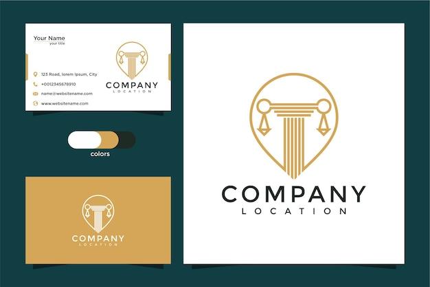 Logotipo de ubicación de la ley y tarjeta de visita