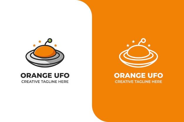 Logotipo de ufo naranja