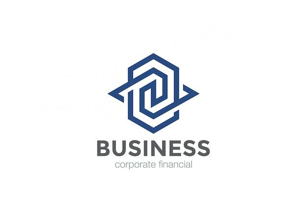 Logotipo universal plantilla de diseño de forma abstracta geométrica.