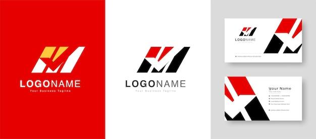 Logotipo de v inicial de signo de victoria inicial limpio con ilustración de vector de tarjeta de visita premium
