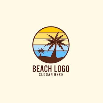 Logotipo de vacaciones de sol y playa