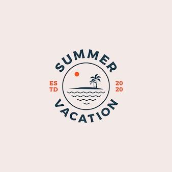Logotipo de vacaciones de verano