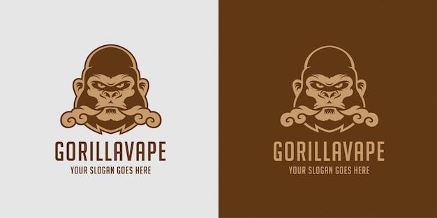 Logotipo de vapor líquido gorila vape