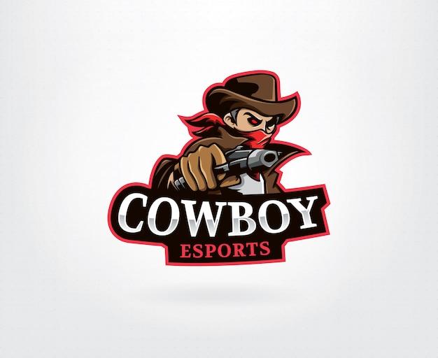Logotipo de vaquero marrón