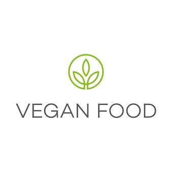 Logotipo de vegan food