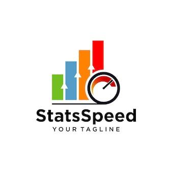Logotipo de velocidad de estadísticas