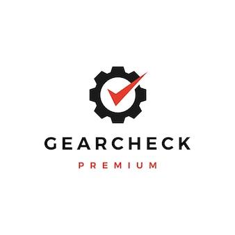Logotipo de verificación de engranajes