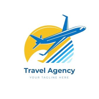 Logotipo de viaje creativo minimalista