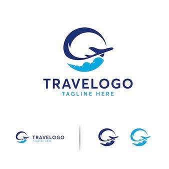 Logotipo de viaje simple