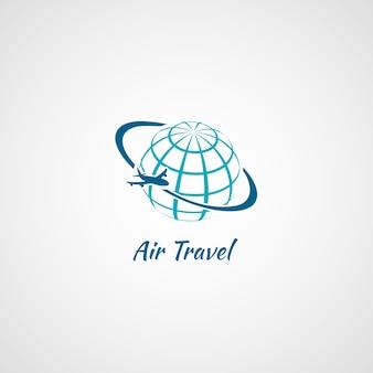 Logotipo de viajes en avión