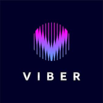 Logotipo de viber con concepto de letra v