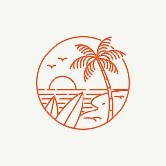 Logotipo de vibraciones de verano