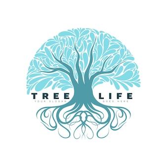Logotipo de la vida del árbol
