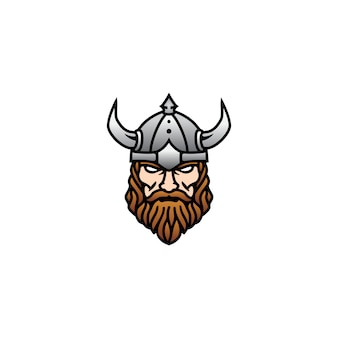 Logotipo de viking head face para esports