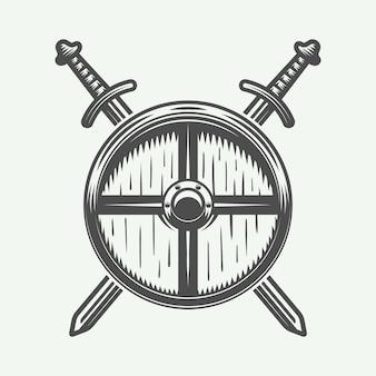 Logotipo de vikingos, emblema