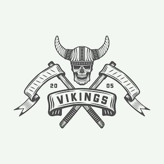 Logotipo de vikingos, etiqueta