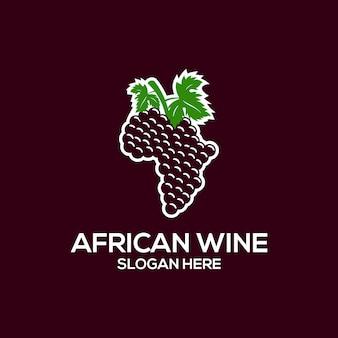 Logotipo del vino africano
