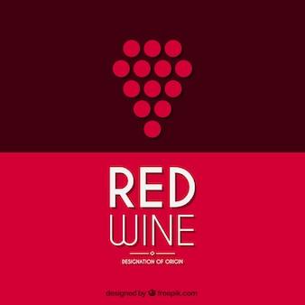 Logotipo de vino tinto