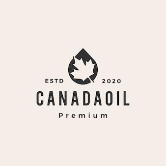 Logotipo vintage de aceite de canadá