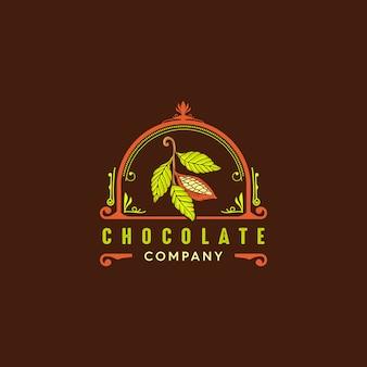 Logotipo vintage cacao