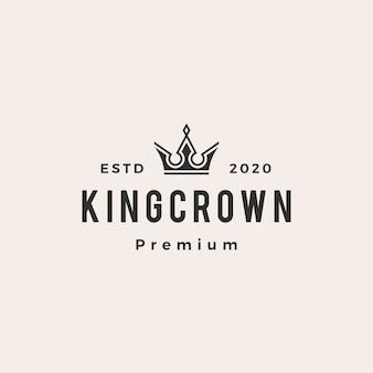 Logotipo vintage de corona de rey