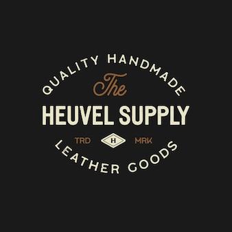 Logotipo vintage para empresa de cuero.