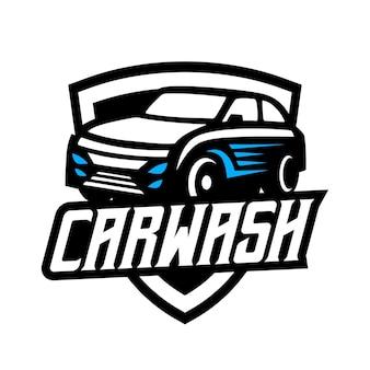 Logotipo vintage de lavado de autos