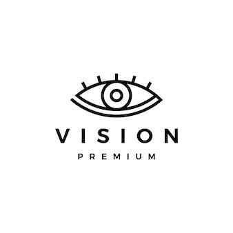 Logotipo de visión ocular