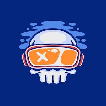 Logotipo de vr skull