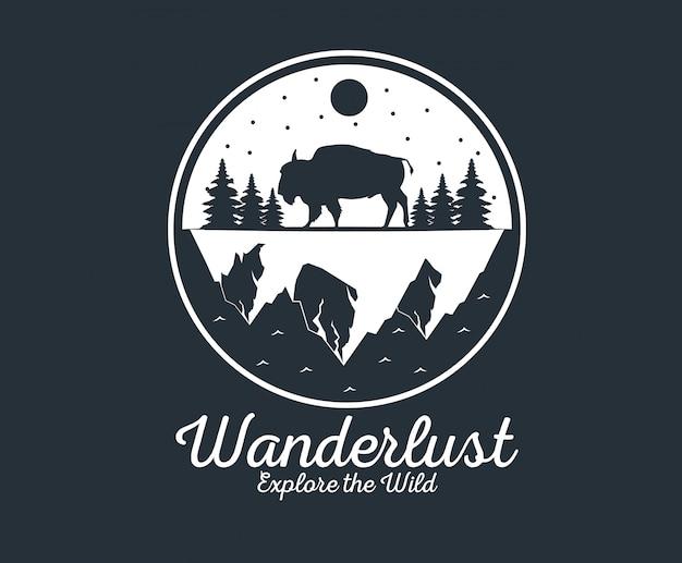 Logotipo de wanderlust adventure
