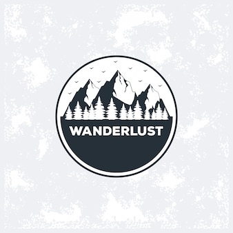 Logotipo de wanderlust adventure