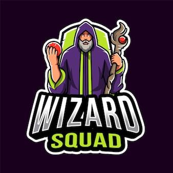 Logotipo de wizard squad esport