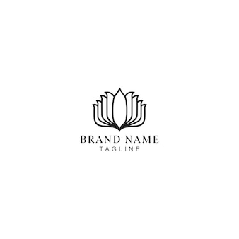 Logotipo de yoga monolina