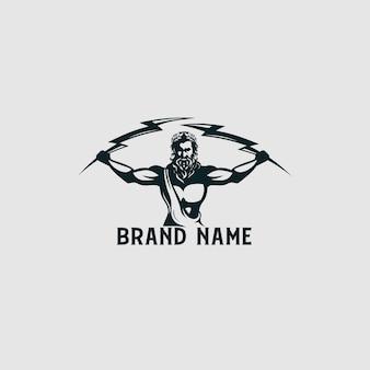 Logotipo de zeus thunder