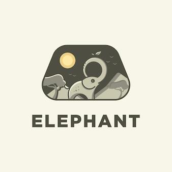 Logotipo del zoológico de elefantes