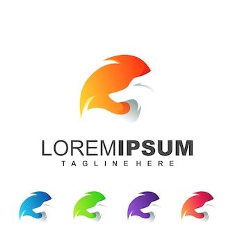 Logotipo de zorro naranja