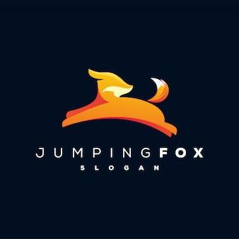 Logotipo de zorro saltando