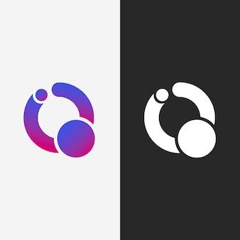 Logotipos abstractos en dos versiones