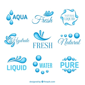 Logotipos de aguamarina